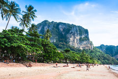 Krabi,Thailand,December 11,2013 Railay beach, Krabi, Andaman sea Royalty Free Stock Photos