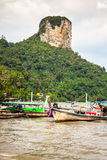 Krabi,Thailand,December 11,2013:Traditional Thai boat, Long tail Stock Photography