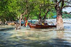 Krabi,Thailand,December 11,2013:Traditional Thai boat, Long tail Royalty Free Stock Photos