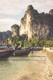 Krabi,Thailand,December 11,2013:Traditional Thai boat, Long tail Royalty Free Stock Photo