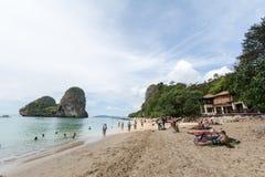 KRABI, THAILAND - 20. JANUAR: Rai-Lage beace 20,2016 im Januar Zoll Stockbild