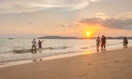 Krabi Thailand - Krabi 20: Strandhavssikt i Krabi Thailand 20/0 Arkivfoton