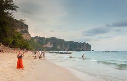 Krabi Thailand - Krabi 20: Strandhavssikt i Krabi Thailand 20/0 Royaltyfri Bild