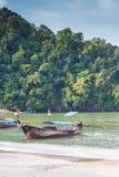 Krabi Thailand - Krabi 20: Strandhavssikt i Krabi Thailand 20/0 Arkivbild
