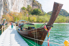 KRABI,THAILAND - MAY 3: Koh Hong island famous attractions.Tourist s of different countries come to visit the beautiful islands of Royalty Free Stock Photos