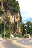 Krabi, Thailand. Streets of the suburb, cars and buildings. Stock Photo