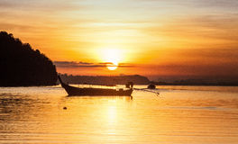 Krabi Thailand. Sunset at Krabi sea Thailand summer stock photo