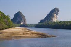 Krabi Town. Krabi landmark (Kanaab Nam Cliff), Krabi Town, Thailand stock image