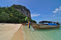 Krabi tropical beach. Wide angle view of Krabi tropical beach, Thailand Stock Image