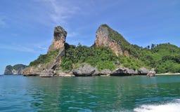 Krabi tropical island. Wide angle of Krabi tropical island image Stock Image