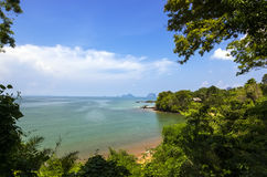 Krabi, view from Fossil shell beach Stock Photos