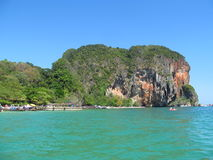 Krabi wapnia rockowe formacje, Tajlandia Obraz Stock