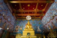 Krabi Wat Kaew Korawaram temple. Beautiful buddhist Wat Kaewkorawaram temple in Krabi in southern Thailand. Cityscape with beautiful religion architecture in royalty free stock image