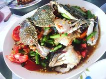 Krabsalade & x28; thaifood& x29; stock fotografie