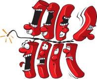 Kracherzeichenkette Stockfoto