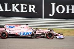 Kracht India Formule 1 door Sergio die Pérez wordt gedreven royalty-vrije stock foto
