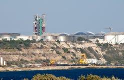 Krachtcentrale in Cyprus Stock Afbeeldingen