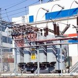 Krachtcentrale en transformatordetails Stock Fotografie