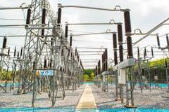 Krachtcentrale voor het maken van elektriciteit stock afbeeldingen