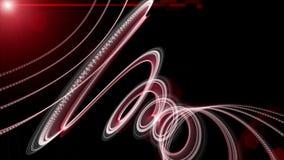 Krachtige animatie met het voorwerp van de deeltjesstreep binnen en het knipperen licht in langzame motie, 4096x2304-lijn 4K stock footage