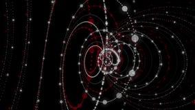 Krachtige animatie met het voorwerp van de deeltjesstreep in langzame motie, 4096x2304-lijn 4K vector illustratie