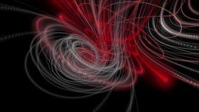 Krachtige animatie met het voorwerp van de deeltjesstreep in langzame motie, 4096x2304-lijn 4K royalty-vrije illustratie
