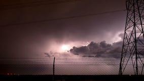 Krachtige de Tijdtijdspanne van het Bliksemonweer stock videobeelden