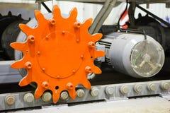 Krachtige elektrische motor met radertjetractie Stock Afbeeldingen