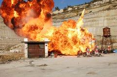 Krachtige explosie Royalty-vrije Stock Foto's