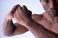 Krachtige handen. Stock Fotografie