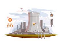 Krachtige kernreactor stock illustratie