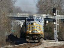 Krachtige Locomotief Stock Foto