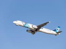 Krachtige Luchtbus A321-231 Egyptair Royalty-vrije Stock Foto