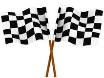 kraciaste wykańczania flagę Fotografia Royalty Free