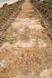 Kraciasty ziemi powierzchni tło Zdjęcie Royalty Free