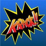 Krack Comic Book Sound Effect Word stock illustration