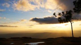 Kradung sunset Stock Images