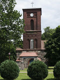 Kraenzlin-Dorfkirche Stock Photography