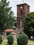 Kraenzlin-Dorfkirche-Torbogen Obraz Stock