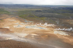 krafla Исландии зоны вулканическое Стоковая Фотография RF