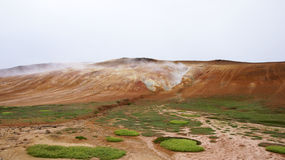 Krafla colore perto do campo de lava quente Leirhnjúkur Imagens de Stock Royalty Free