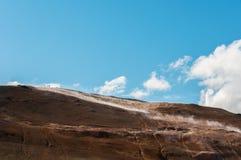 Krafla is een vulkanisch systeem met een diameter van ongeveer 20 die kilometers in het gebied van MÃ ½ worden gesitueerd vatn, h royalty-vrije stock foto