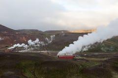 Krafla Electric Power geotérmico coloca fotografía de archivo libre de regalías