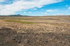 Krafla est un système volcanique avec un diamètre d'approximativement 20 kilomètres situés dans la région du vatn de ½ de MÃ, au  photographie stock