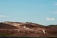 Krafla est un système volcanique avec un diamètre d'approximativement 20 kilomètres situés dans la région du vatn de ½ de MÃ, au  photographie stock libre de droits