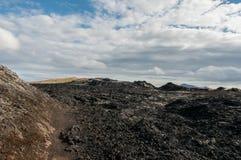 Krafla est un système volcanique avec un diamètre d'approximativement 20 kilomètres situés dans la région du vatn de ½ de MÃ, au  photo stock