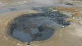 Krafla geotermisk gyttjagrop #2 stock video