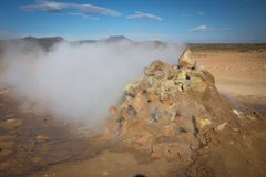 Krafla geothermal activity Stock Images