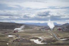 Krafla Geothermal Power Station Stock Images