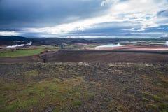 Krafla Geothermal Power Station in Myvatn Iceland Royalty Free Stock Image